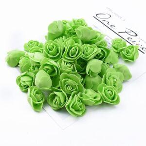 100 Pcs Artificial Rose Flower Head Fake Foam Floral DIY Craft Home Decoration