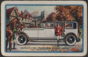 Playing Cards Single Card Old Vintage DAIMLER Motor Car Advertising HUNT HORSE B