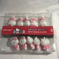 New Hello Kitty Light Set Sanrio Kurt Adler Pink White Indoor/Outdoor