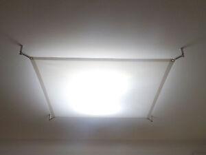 LICHTSEGEL SCREENBASE 100x160 cm TEXTILES STUDIO LED PANEL DECKENLAMPE EDELSTAHL
