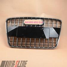 Brilliant Black Front Bumper Upper Radiator Grille Chrome For AUDI Q7 07-15 SUV