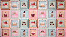 "Cake Cookie Cupcake Block Cotton Fabric SPX 25493 Sugary Sweet ~ 24""X44"" PANEL"