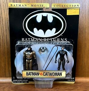 Batman vs. Catwoman Batman Returns Movie Collection Figures New 1997 Kenner 90s