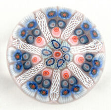 Strathearn Glass Large 7 Spoke Millefiori Paperweight P7