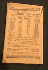 Antique Butternick Sewing Pattern 3685 Slip-Over Frock For Misses & Small Women
