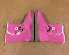 UGG Kids Fauna Boots Princess Pink Size 3 US 🦉 🦊 🐻 🐰 🦌 Animals Print Boots
