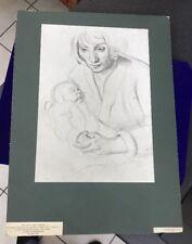 Années 1960 v&a imprimé photo montage moderne 20th C dessins mère enfant Leon Underwood