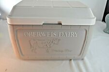 New listing Oberweis Dairy Coleman Cooler Dairy Box Gray/ White Great Condition