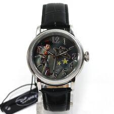 DISNEY Reloj Mujer Reloj Automático TOY STORY WOODY Pulsera De Cuero Cocodrilo