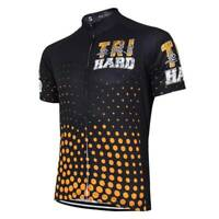 Tri Hard Triathlon Theme Black Cycling Jersey