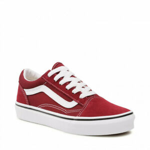 Vans Old Skool Pomegranate/True White  Classic Canvas/Suede Fast shipping