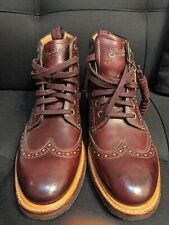 Florsheim Foundry Horween Wingtip Boots Burgundy/Cordovan Color Size 9 D