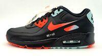 Sz 7Y/8.5 Wmns Nike Air Max 90 LTR Casual Shoes Black/Red/White CZ8144-001 NIB
