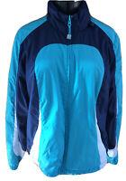 Athletic Works Womans XL Blue White Color Block Reversible Zip Front  Jacket