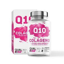 COLAGENO HIdrolizado Marino Coenzima Q10 Acido Hialuronico Vitamina C 90Capsulas
