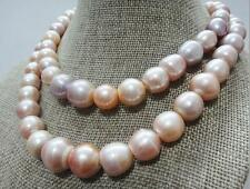 """18""""13-16mm natural south sea pink purple baroque pearl necklace"""