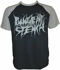 PUNGENT STENCH - Grey-Logo - Black-Grey-Sols-Raglan-T-Shirt - M / Medium- 164148