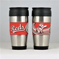 Cincinnati Reds MLB Licensed 15oz Stainless Steel Tumbler w/ PVC Wrap