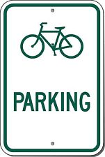 12x18 Bicycle Parking Symbol 3M Engineer Grade Prismatic Reflective Alumn. Sign