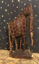 Hand Carved Mother Giraffe - Damage- Missing Baby- Preowned