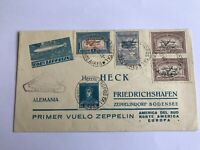 1930 Argentina to Germany Zeppelin Cover Pan America Flight Green Overprints