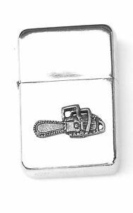 Chainsaw Emblem Windproof Petrol Lighter FREE ENGRAVING Personalised Gift 69