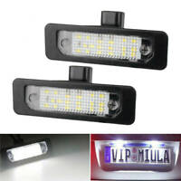 2x License Plate Light LED Xenon White Lamp For Ford Flex Taurus Mustang Focus R