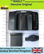 Genuino Original NIKON MH-21 Cargador EN-EL4, EN-EL4A D2H D2Hs D2X D3 D3S D3X F6