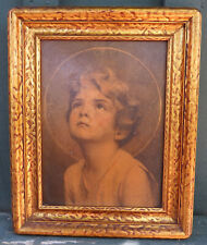 Vintage Arts & Crafts Mission Style Gold Wood Frame with Rounded Corners