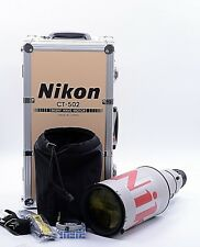 NIKON AF-S NIKKOR 500mm F/4 D II ED LENS IN RARE GREY WITH ACCESSORIES