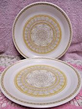 Franciscan Hacienda Gold Dinner Plate Set of 2 Yellow Geometric Interpace TV USA