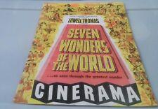 Seven Wonders of the World Lowell Thomas Cinerama souvenir MOVIE PROGRAM!