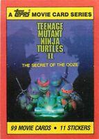 1991 TOPPS TEENAGE MUTANT NINJA TURTLES II - PICK / CHOOSE YOUR CARDS