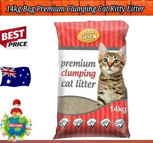14kg Bag Premium Clumping Cat Kitty Litter Natural Fragrance Free Antibacterial