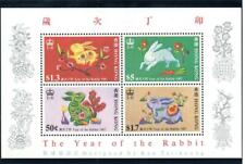 Hong Kong - 1987 Year of the Rabbit – Minisheet – MNH