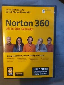 Norton 360 All in One security 1 year protection up to 3 PC's per household