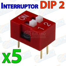 5x Interruptor DIP switch 2 canal DIP2 on off para PCB 2p multiswitch