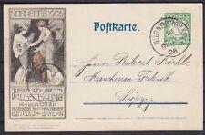 Bayern PP 15 Privat Ganzsache Jubiläumskarte, Nürnberg - Leipzig 1906, GA
