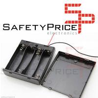 Portapilas Battery holder 4xAA Porta 4 Pilas con interruptor LR06 AA P012