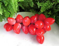 LOVELY VINTAGE ALABASTER STONE FRUIT RED GRAPES
