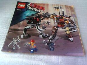 LEGO MOVIE 70807 Metal Beard's Duel Instruction Manual (No Bricks included)