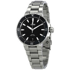Oris Aquis Black Dial Automatic Ladies Stainless Steel Watch 01 733 7731
