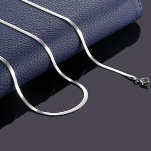 Stainless Steel Flat Choker Necklace Gold Silver Snake Chain Men Women Jewelry