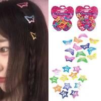 12PCS/Set Kids Barrettes Girls' BB Clip Candy Color Hair Clips Accessories HS