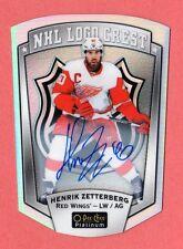 HENRIK ZETTERBERG 2016-17 O PEE CHEE PLATINUM NHL LOGO CREST AUTOGRAPH AUTO SSP