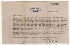1930 PRINCESS HOTEL BERMUDA TLS Typed Letter Signed HOTEL ASPINWALL LENOX MASS
