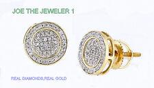 Men Diamond Disc Micro Pave Earrings 10 KY 0.25 CWT Diamond Jewelry 100% NEW