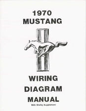 """1970 Ford Mustang Wiring Diagram 11"""" X 17"""" Easy To Read"""