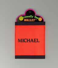 Personally Yours Wallet ~ MICHAEL ~ Stocking Stuffer ~Orange Personalized Wallet