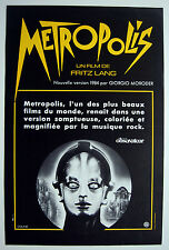 METROPOLIS – GIORGIO MORODER – FRITZ LANG – ORIGINAL 1984 FRENCH MOVIE POSTER